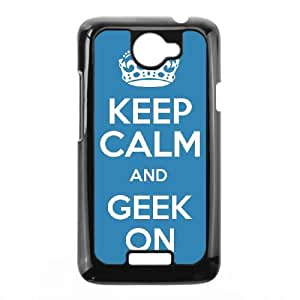Keep Calm Geek On HTC One X Cell Phone Case Black Y7402344