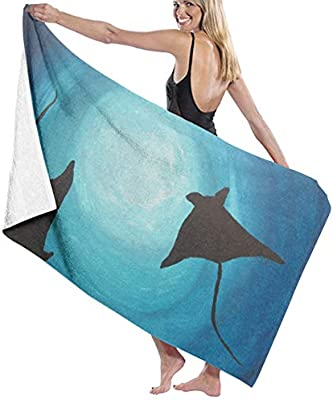 Amazon.com: QWED Stingray Paintings Unisex Luxury Beach ...