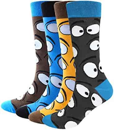 1c9aa609a23d2 Mens' Funny Socks Cute Crazy Art Casual Cotton Crew Socks Fun Comfortable