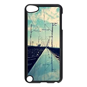 Ipod Touch 5 Cases Close up Railway, Railway [Black]