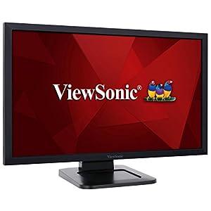 """ViewSonic TD2421 24"""" 1080p Dual-Point Optical Touch Screen Monitor HDMI, DVI"""