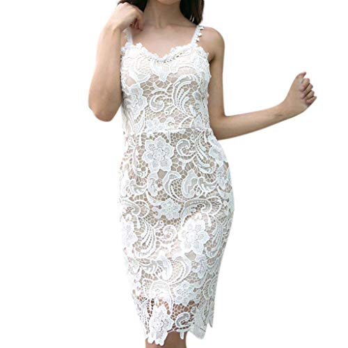 Womens Cocktail Midi Dress Sexy Lace Bodycon Party Pencil Bandage Dresses by Beautyfine
