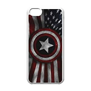 Comics Captain America USA Flag iPhone 5c Cell Phone Case White 91INA91103543