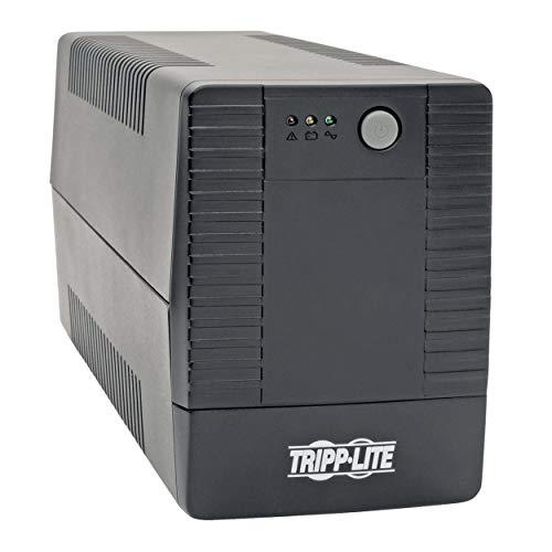 Tripp Lite 550VA UPS Battery Backup Surge Protector, Line Interactive UPS, AVR, 6 NEMA 5-15R Outlets, NEMA 5-15P Plug, 120V UPS, USB, Tower (SMART550USB2)