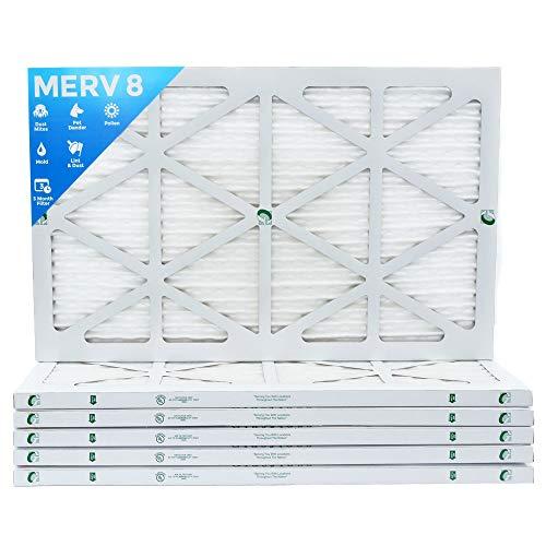 16x24x1 Merv 8 Pleated AC Furnace Air Filters. Box of 6