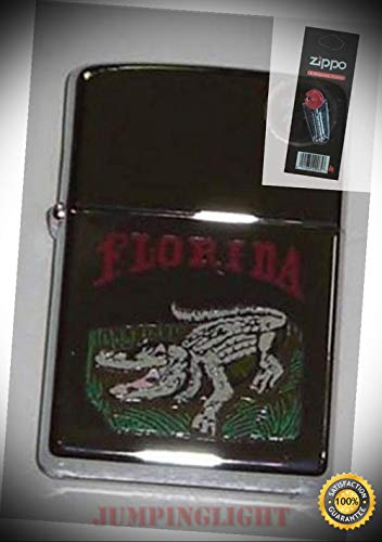 250 Florida Alligator Lighter with Flint Pack - Premium Lighter Fluid (Comes Unfilled) - Made in ()