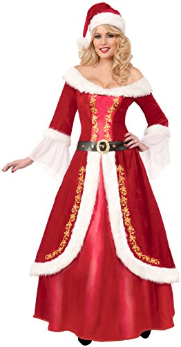 Forum Novelties Women's Premium Classic Mrs. Claus Costume, Multi, One Size -
