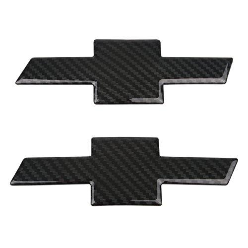 Grille Trunk Bowtie Emblem Badge Cover 2PC Carbon Color For 2016~2018 Chevy Malibu