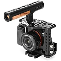 THOR Aluminum Alloy Camera Video Cage Film Movie Making Kit include: (1) Video Cage (1) Detachable top handle (1) Cable Clamp (1) Compatible plate (1) Hot shoe mount for Sony A7S II