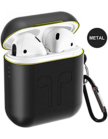 Airpods Case, Qcoqce Funda Airpods en Metal, Ligero Impermeable Antipolvo Airpods Accesorios con Protective