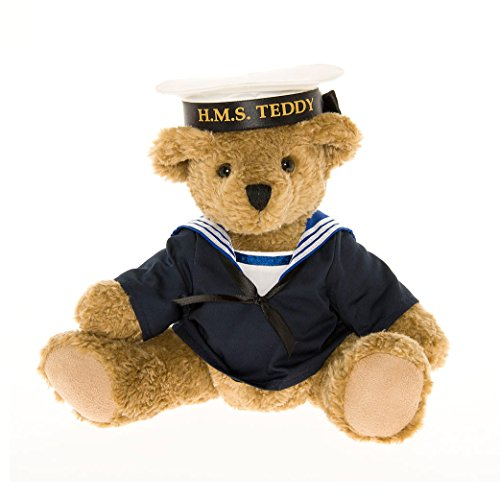 Amazon.com: Authentic Navy Sailor Teddy Bear – the Great British Teddy Bear co: Toys & Games
