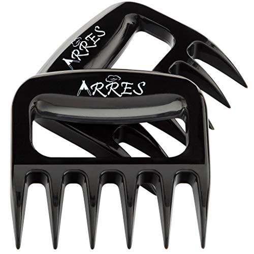 Arres Pulled Pork Claws & Meat Shredder - BBQ Grill Tools and Smoking Accessories for Carving, Handling, Lifting -