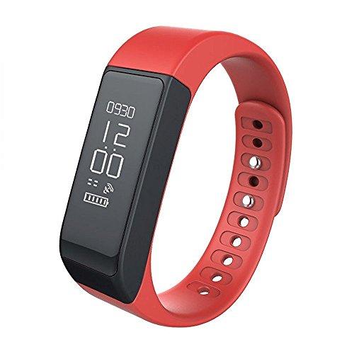 29ed8e41299 Kybeco Fitness Tracker Wireless Sleep Monitor Activity Watch Sports  Pedometer Wristband Gift for Kids Women Men (Red)