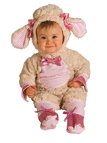 Rubie's Baby-girls Infant Noah Ark Collection Lucky Lil Lamb Costume, Beige/Pink, 0-6 months ()