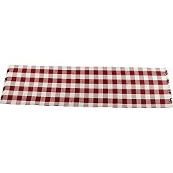 Home Collections by Raghu 14x54 Buffalo Check Table Runner, Barn Red and Buttermilk