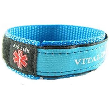MyIDDr- Kids, Child, - BLUE - Boys Medical Alert ID Bracelet, Adjustabe - Free Medical ID Wallet Card Incld.