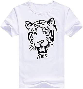 Cotton Round Neck Tiger T-Shirt For Men