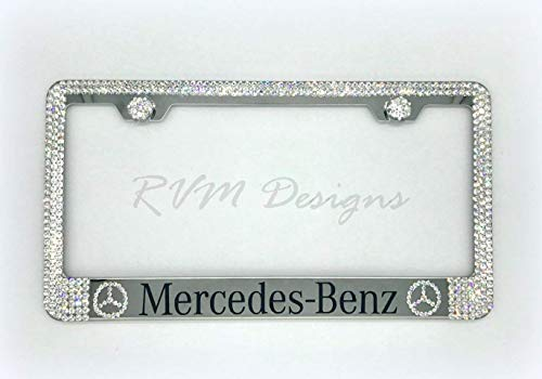 Mercedes Benz License Plate Frame made with Swarovski Crystals - Mercedes Benz Car Jewelry ()
