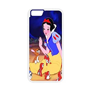 FOR Apple Iphone 6 Plus 5.5 inch screen Cases -(DXJ PHONE CASE)-Snow White Holding Apple-PATTERN 16