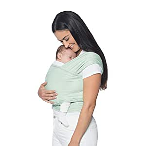 Ergobaby Aura Wrap: Award-Winning, Ergonomic, Soft and Light-Weight, Easy to Tie, for Newborns to Babies up to 25 lbs (0-36 Months) - Sage