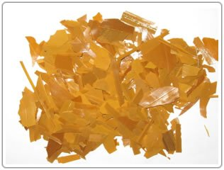 880g - Waxed Shellac Flakes - YELLOW - Natural Pure Polish Varnish - 880g / 32oz / 2lbs - Direct From India by Export Chef