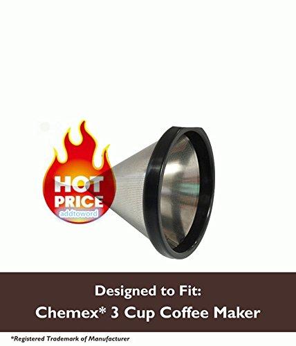 Lavable y reutilizable filtro de café de cono para Chemex ...