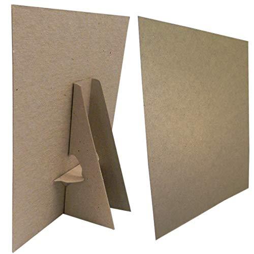 (8 1/2 x 11 Kraft Cardboard Easel Display Stand, (Pack of)