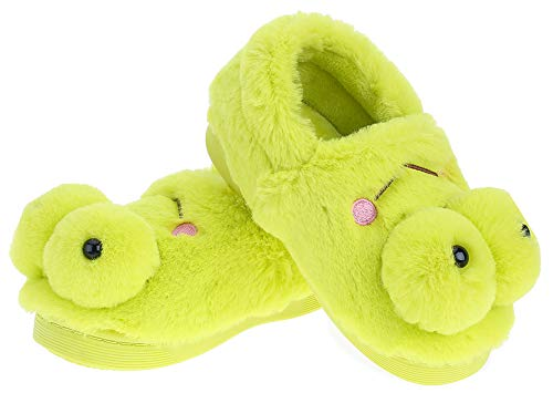 UIESUN Cute Frog Unisex Toddler Kids Slippers Shoes for Boys Girls House Slipper Green 16/17 by UIESUN (Image #5)