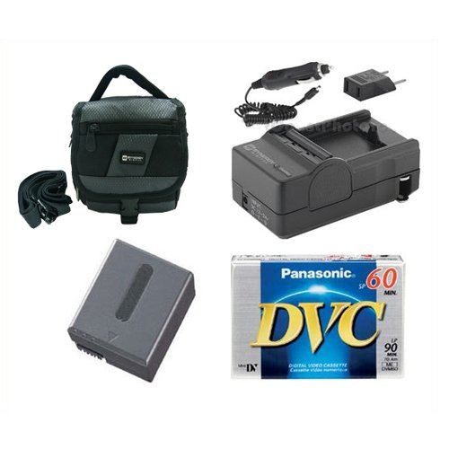 Sony DCR-PC350 Camcorder Accessory Kit includes: SDM-102 Charger, SDNPFF70 Battery, SDC-27 Case, DVTAPE Tape/Media ()