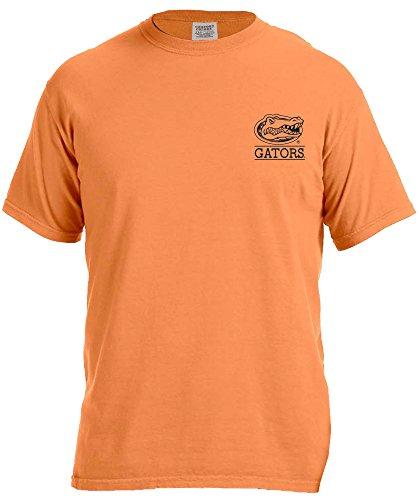 Image One NCAA Mascot Short sleeve Comfort Color Tee, Medium,Melon