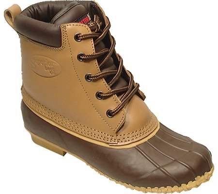Superior Boot Co Women's 5-Eye Duck Boots,Brown,8 M