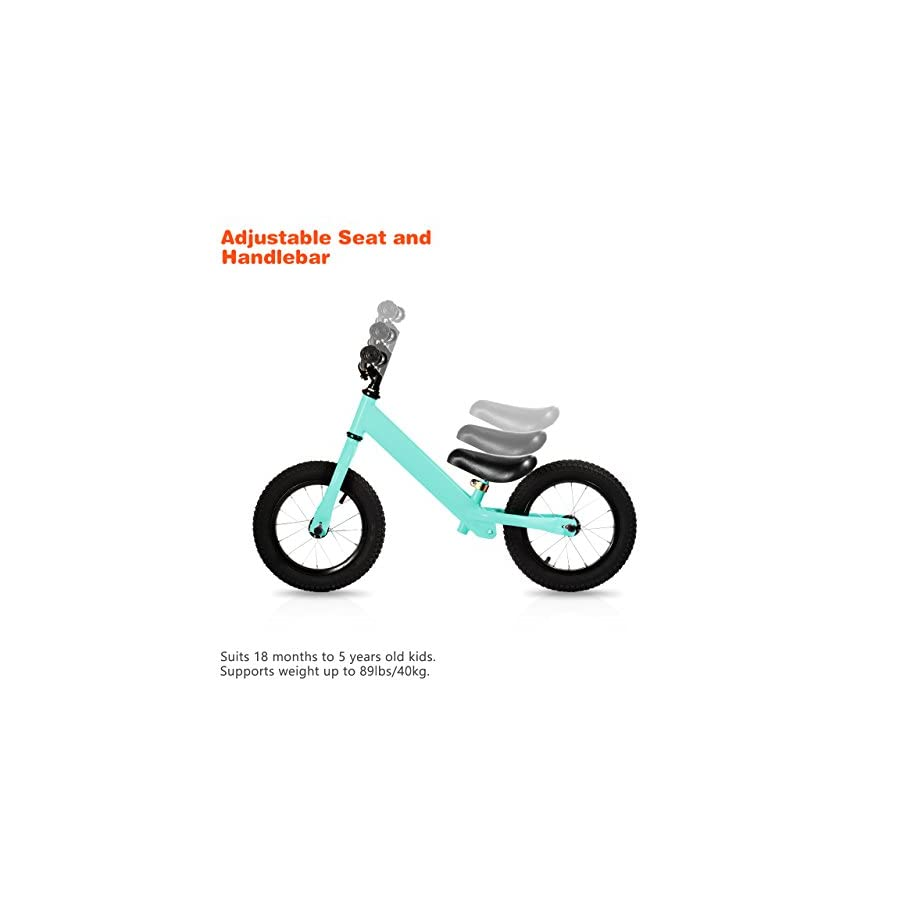 OMorc Mini Balance Bike Kids from 18 Month to 5 Years Old, Durable Bearing Frame, Soft Cushion Seat
