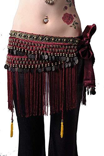 Gypsy Skirt Belly Dance Hip Scarf Belly Dance Skirt Bellydancer Women (Gypsy Boots)
