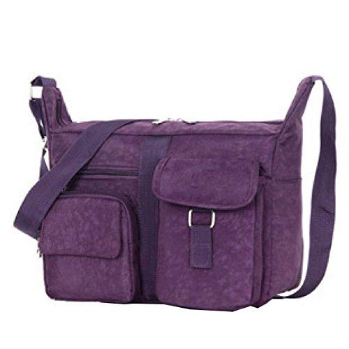 Yy.f Bolsas Bolsos Casuales Paquete Diagonal Bolso De Hombro Lavar Ropa Elegantes Prácticos Varias Bolsas De Color Internos Externos Purple