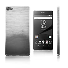 Xcessor Transition Color Flexible TPU Case for Sony Xperia Z5 Compact. With Gradient Silk Thread Texture. Transparent / Grey