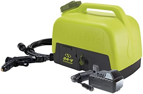 Sun Joe WA24C-LTE 24-Volt Amp 5-Gallon Electric Pressure Washer, Kit w 2.0-Ah Battery Quick Charger
