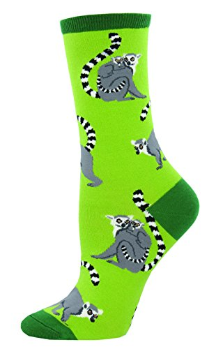 Socksmith Lemur Alone Womens Crew Socks
