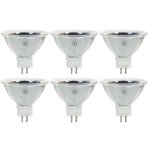 Sunlite Series 20MR16/NSP/12V/6PK Halogen 20W 12V MR16 Narrow Spot Light Bulbs, 3200K Bright White, GU5.3 Base, 6 Pack