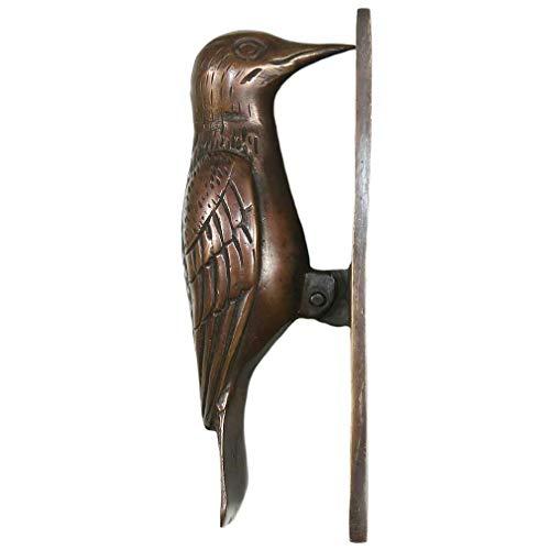 "Eyes of India - 7"" Brass Bird Door Knocker Metal Antique Sculpture Hardware Wall Art"