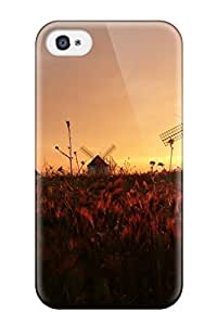 Awesome ClZxgGW6449voxui BakerCooleya Defender Tpu Hard Case Cover For Iphone 4/4s- Windmills At Sunset Landscape Nature Other