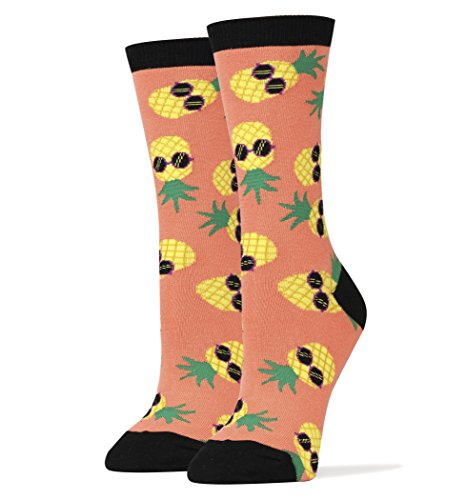 Oooh Yeah Socks Women's Luxury Combed Cotton Funny (PINEAPPLE DUDE) from ooohyeah