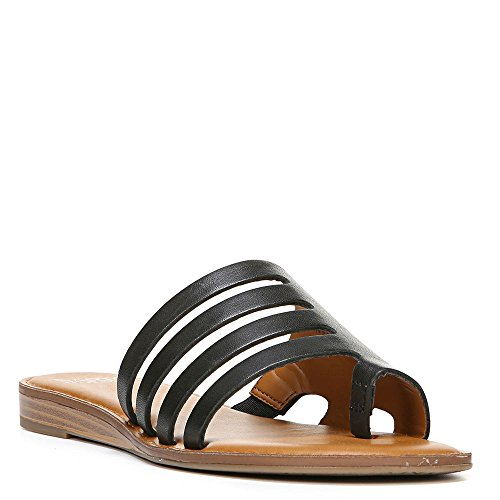 Franco Sarto Gala Leather Sandal, 6, Black