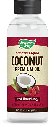 Natures Way Premium Coconut Oil, Red Raspberry, 10 Ounce (300 mL)