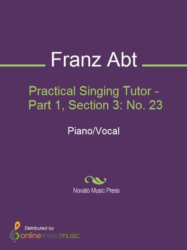 Practical Singing Tutor - Part 1, Section 3: No. 23