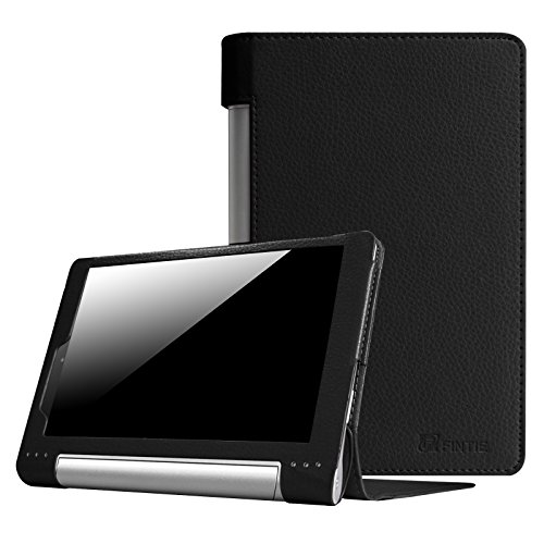 Fintie Lenovo Yoga Tablet 8 Folio PU Leather Case Cover with Auto Sleep / Wake Feature for Lenovo Yoga 8 8-Inch Android Tablet - Black