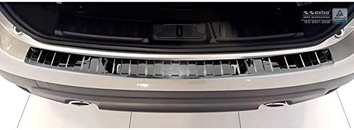Ribs Avisa Protection de seuil arri/ère inox Noir-Chrom/é compatible avec Jaguar F-Pace 2016
