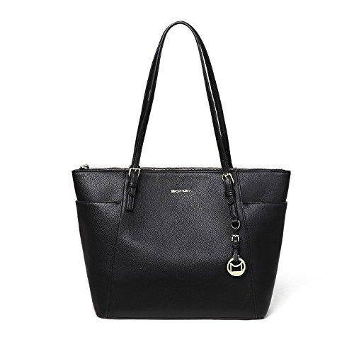 Acheter A Tracolla Di Medie Dimensioni Pu Grandi Bolsa Da Donna Classique Noir, noir Noir