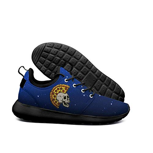 DEEEWKF mr Pizza The Slice Skulls Mens 2018 Ultra Lighweight Running Shoes -