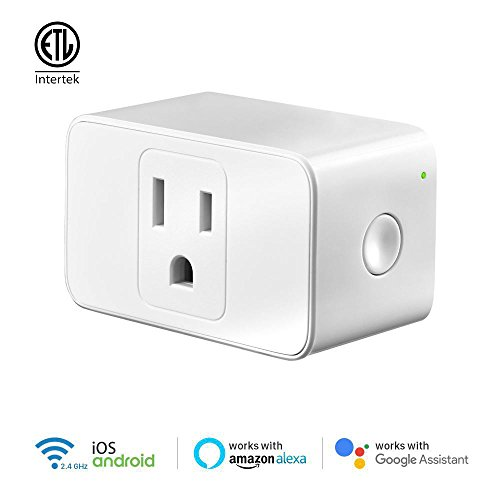 Price comparison product image TicLife Smart Plug, A Weekly Evolving Smart Plug, Remote Control, Voice Control by Google Assistant and Alexa, ETL Listed
