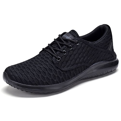 COODO CD7003 Women Lightweight Sneakers Casual Sport Shoes All Black-8.5 (Shoe Tennis Women)